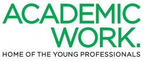 Logo Academic work, Home of the young professionals